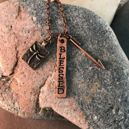 """Blessed"" Necklace in Bronze"