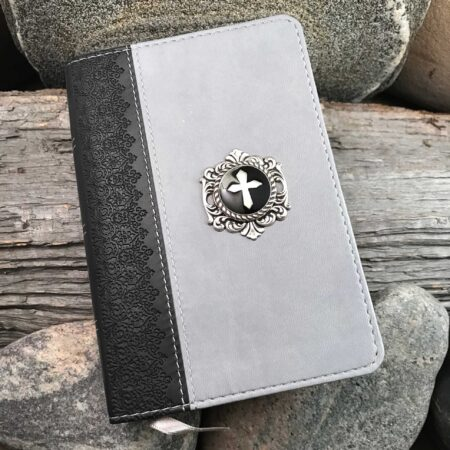 HCSB Large Print Compact Bible - Black and Gray