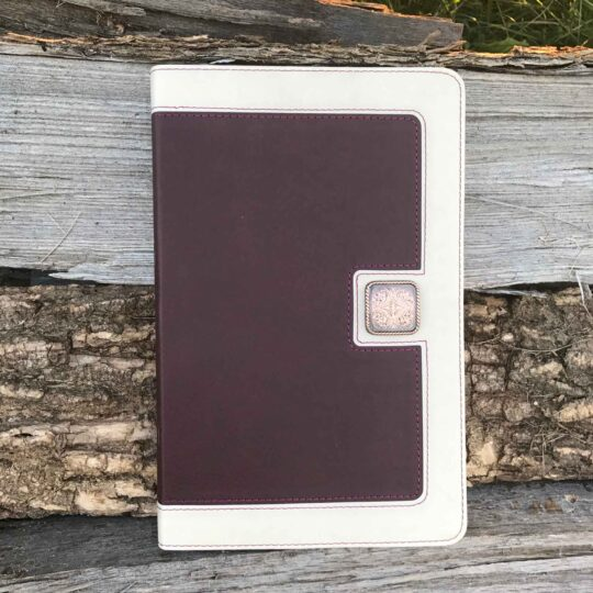 Ivory & Cranberry KJV UltraSlim Bible