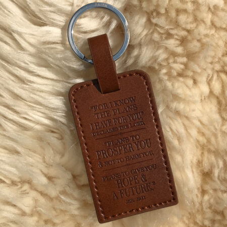 Brown Keyring Jeremiah 29:11