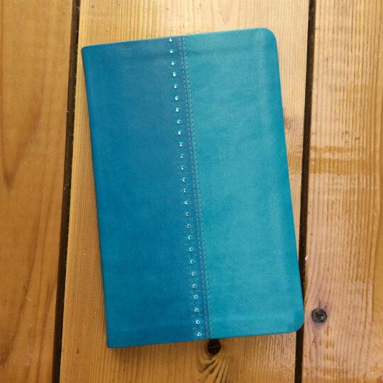 Turquoise & Swarovski Crystal NKJV UltraSlim Reference Bible