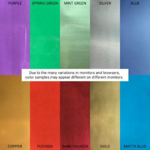 Foil Sample Colors