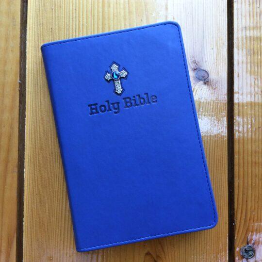 NIV Royal Blue Backpack Zipper Bible