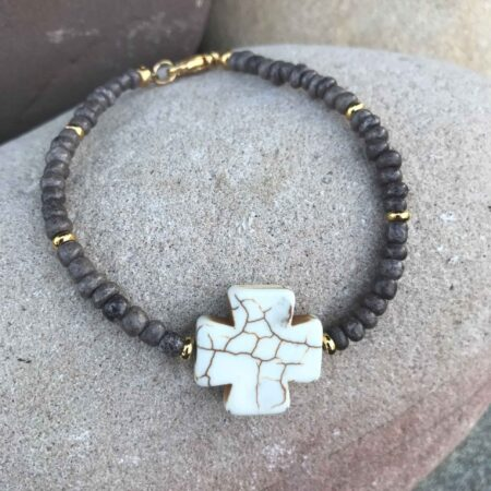 Marbled Cross Bracelet
