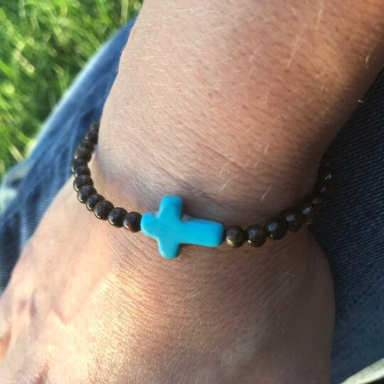Turquoise & Brown Bracelet