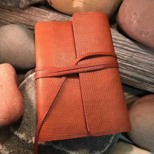 Cowhide Custom Wrap Journal - Small