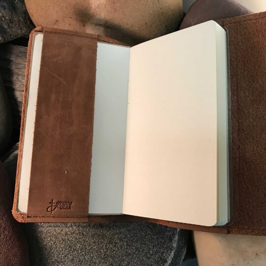Cowhide Custom Wrap Journal - Small