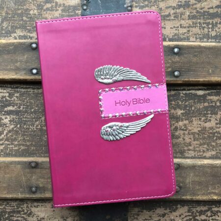 NIV Gift Bible Razzleberry with Angel Wings