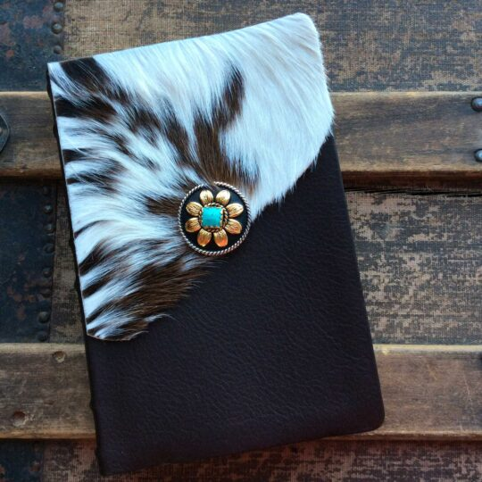 HCSB Large Print Personal Size Reference Bible, Spotted Cowhide