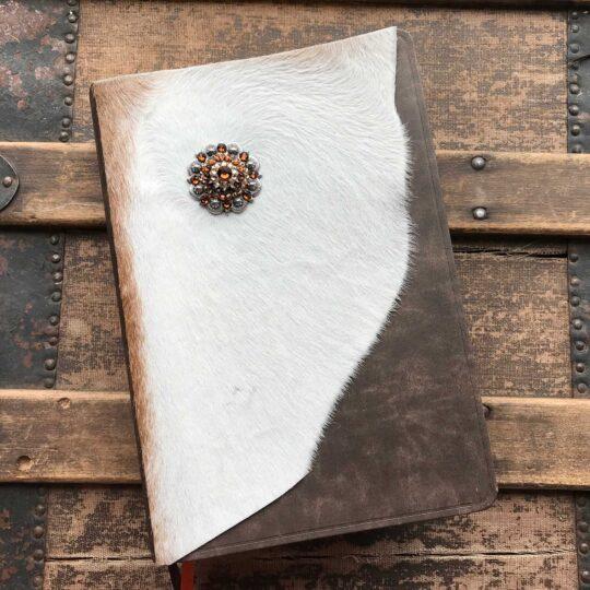 NIV Life Application Study Bible, White Cowhide with Rhinestone Concho