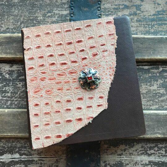 NRSV XL Print Bible, Rust with Celtic Cross Concho