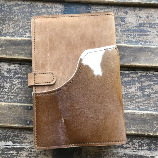 Bible-Cover-with-Brown-and-White-Cowhide