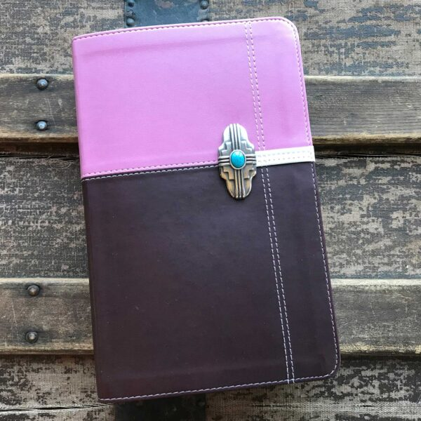 NIV Life Application Study Bible, Silver and Turquoise Concho