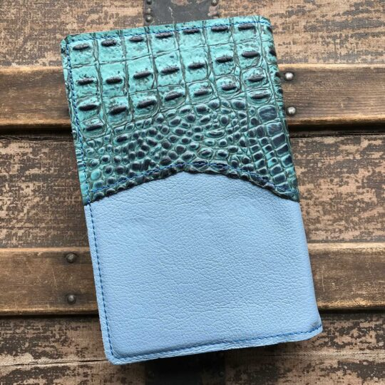 Blue Leather Bible Cover