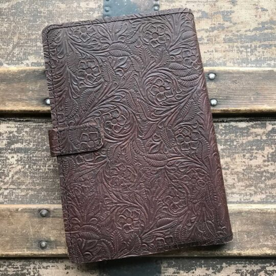 Brown Tooled Leather Bible Cover