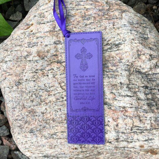 Purple John 3:16 Bookmark